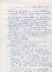 """La carta de """"intención"""" que el intendente firmó para los inundados"""
