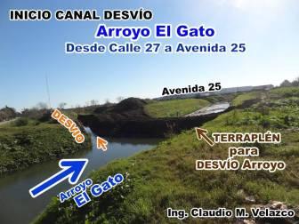 MI ALERTA PREVIA Arroyo y el Desvío visto desde Calle 27 hacia Av 25