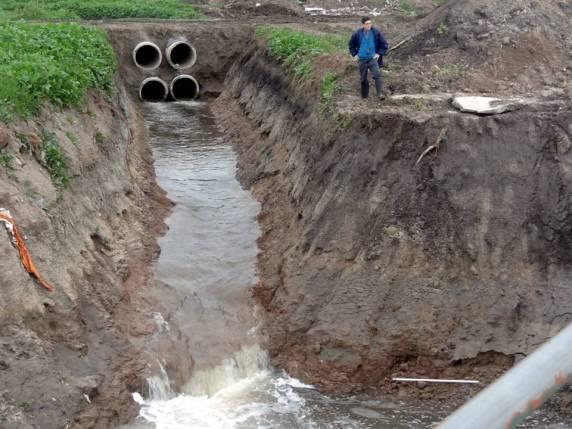 MI ALTERTA PREVIA Canal de desvio cofluyendo al sector Puente de Av 25