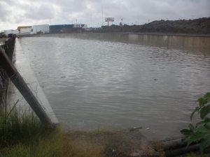 Así estaba el Arroyo del Gato durante la lluvia del último fin de semana