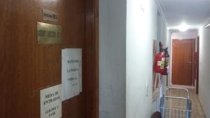 Los Pasillos de la UFI Nº 8 donde se lleva a cabo la investigación