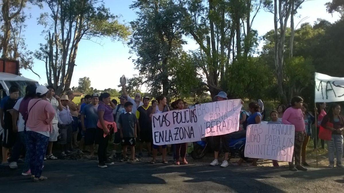 Vecinos de Arana se manifestaron para reclamar seguridad