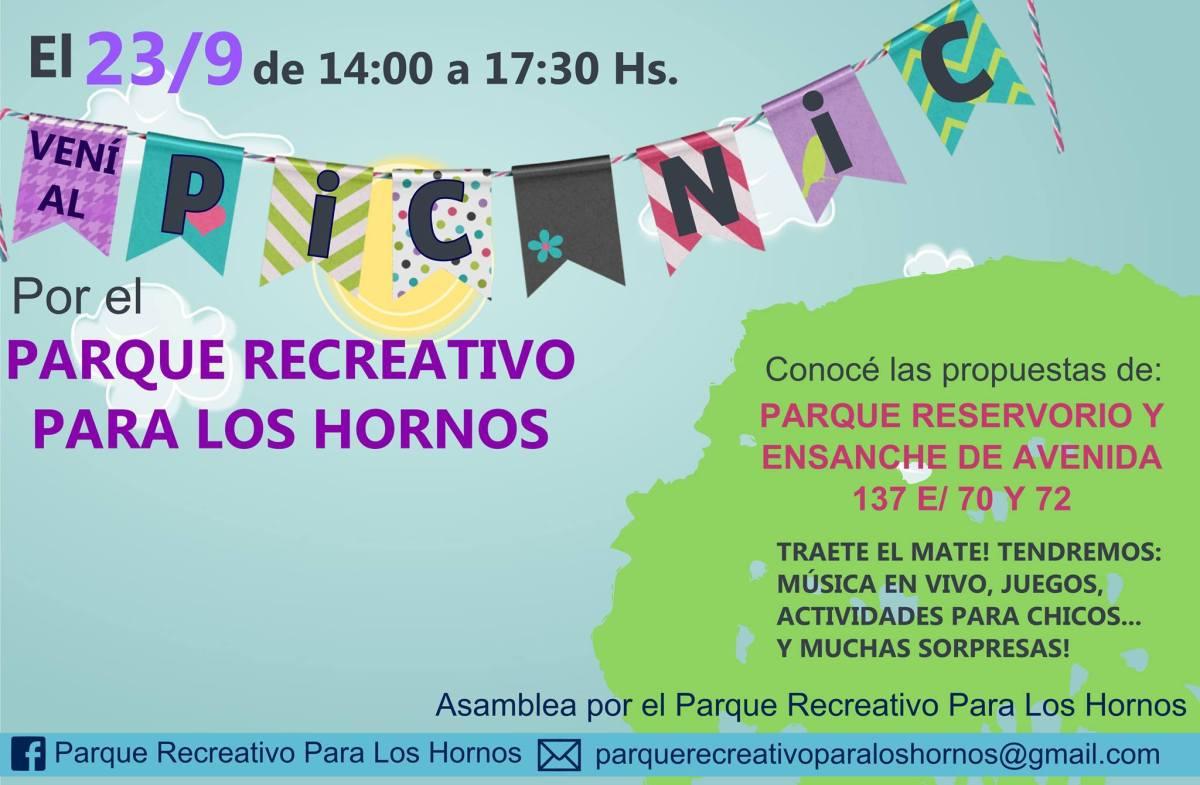 Se hará un picnic primaveral por el Parque Recreativo para Los Hornos