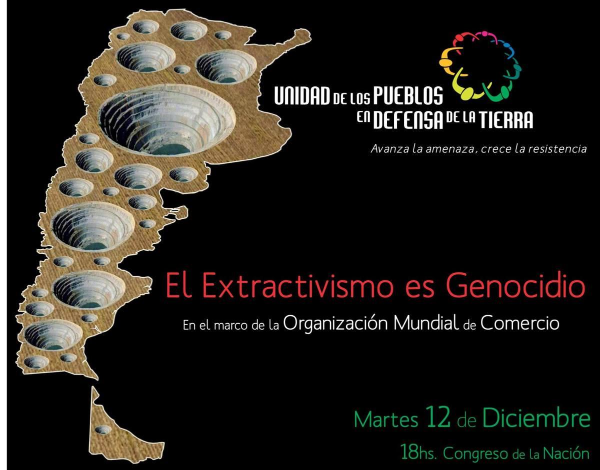 """Convocatoría a la intervención """"El Extractivismo es Genocidio"""""""