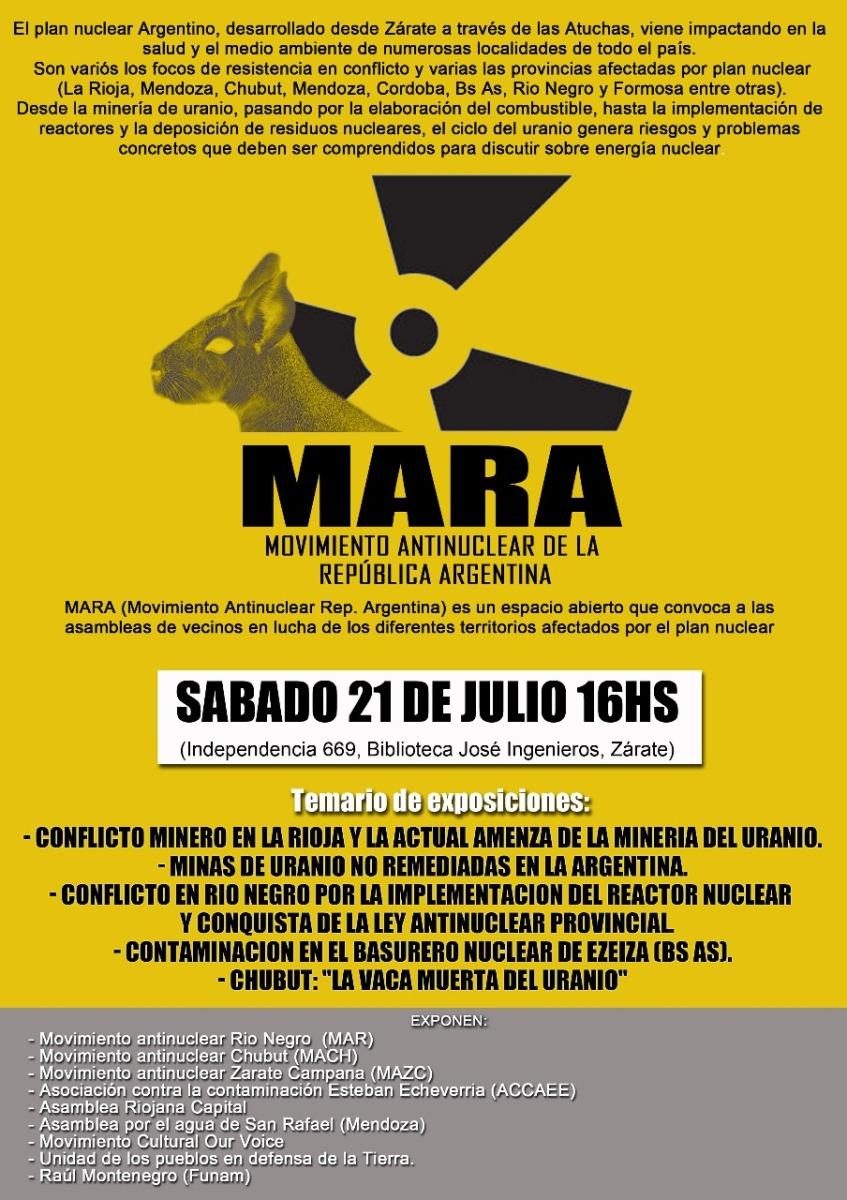 Se realizó el primer encuentro del Movimiento Antinuclear de la República Argentina